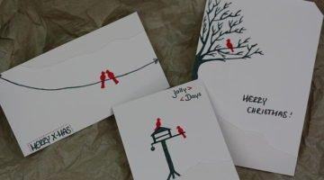 einfache-weihnachtskarten