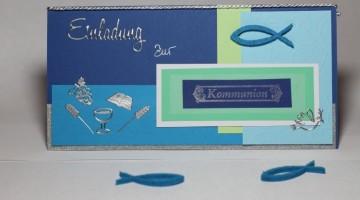Einladungskarte zur Kommunion selbst basteln