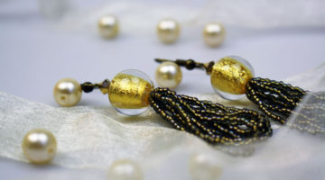Ohrringe mit Perlenquasten machen