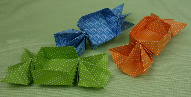 Origami Bonbons Basteln Deindiy