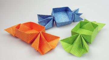 Origami-Bonbons basteln