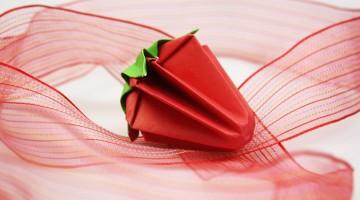 origami-erdbeere