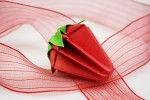 Origami Erdbeere