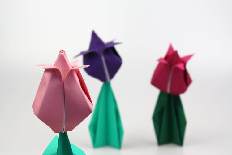origami tulpe. Black Bedroom Furniture Sets. Home Design Ideas