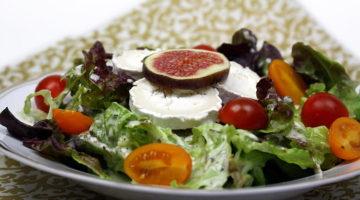 salat-mit-ziegenkaese-und-feigen