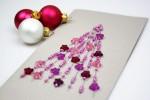 Weihnachtskarte mit Perlen basteln
