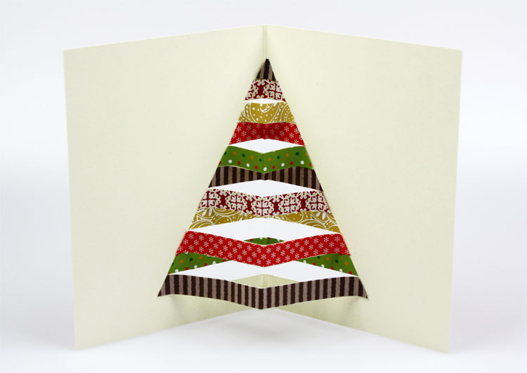 Weihnachtskarten Origami.Weihnachtskarte Selber Basteln